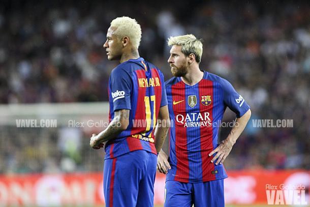 Messi y Neymar vieron puerta en la visita culé a Vitoria | Foto: Alex Gallardo - VAVEL