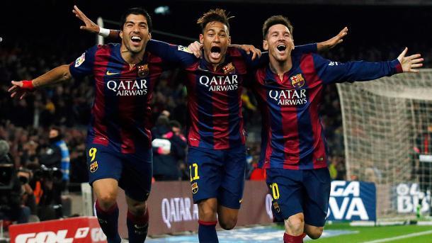 Suárez, Neymar y Messi en el Camp Nou I Fuente: rtve.es