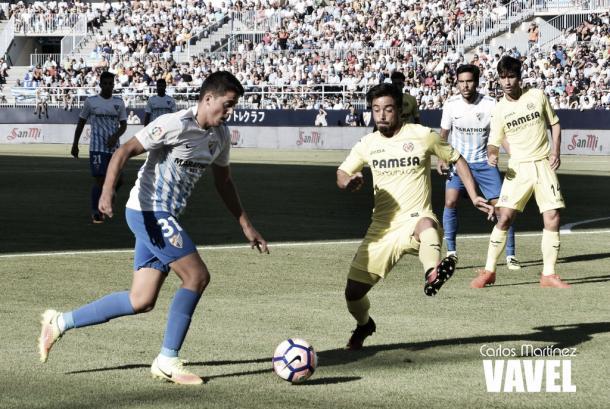 Pablo Fornals, en el encuentro de la primera vuelta entre Málaga y Villarreal | Foto: VAVEL