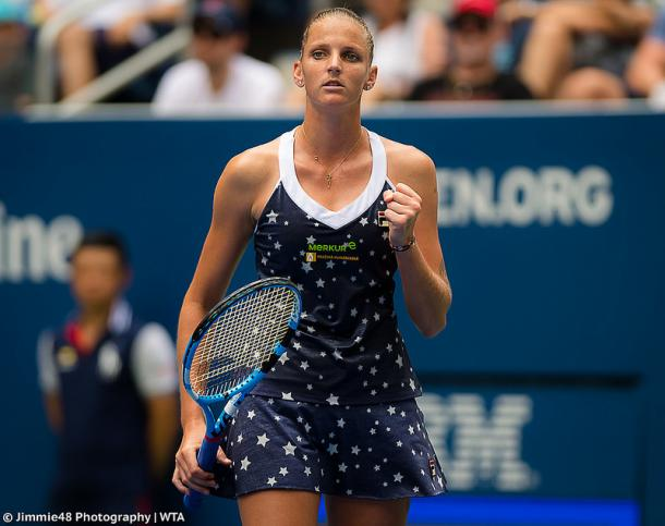 Pliskova is looking to break through to the semifinals of Wuhan for the first time in her career. Photo credit: Jimmie48 Tennis Photography.