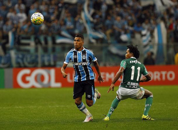 Pedro Rocha desperdiçou duas oportunidades (Foto: Divulgação/Grêmio