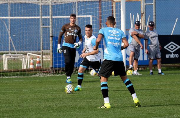 Foi o primeiro treino do Grêmio sem o técnico Roger Machado (Foto: Divulgação/Grêmio