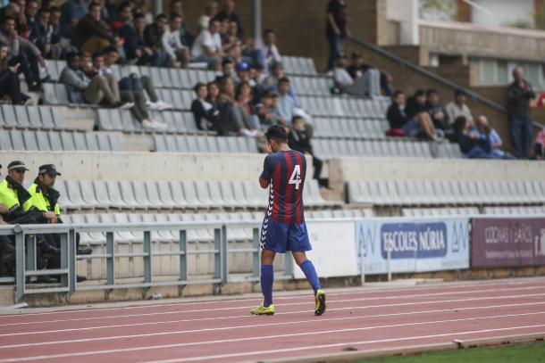 Mario Gómez no estará en Sabadell por una injusta expulsión | Foto: CF Gavà