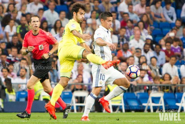 Trigueros en el enfrentamiento de la pasada temporada ante el Real Madrid I Foto: Daniel Nieto (VAVEL)