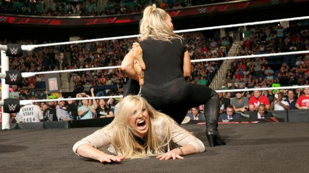 Is this Charlotte's fate in Newark? Photo: WWE.com