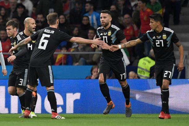 La Albiceleste tras la abultada derrota ante España en Madrid | Foto: FIFA