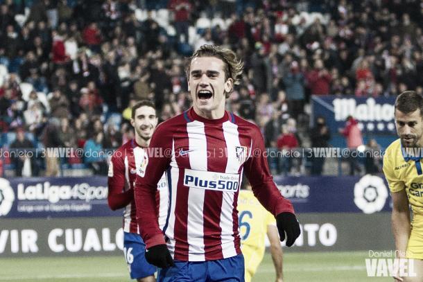 Griezmann celebra uno de sus goles / Foto: Daniel Nieto - VAVEL