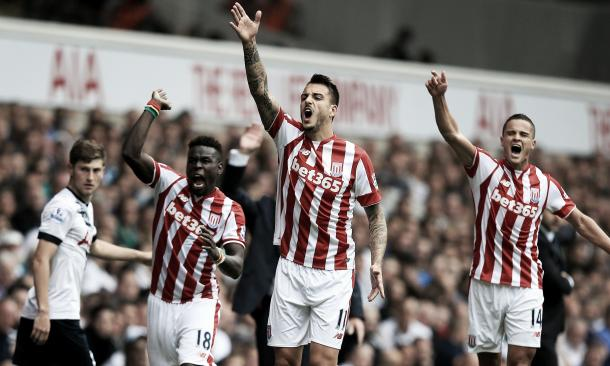 Stoke scored two late goals to peg Spurs back and draw last time the two sides met. | Photo: Getty Images
