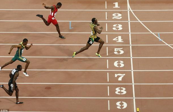 Diferente dos 100 metros, Bolt venceu os 200 metros com mais facilidade (Foto: Getty Images)