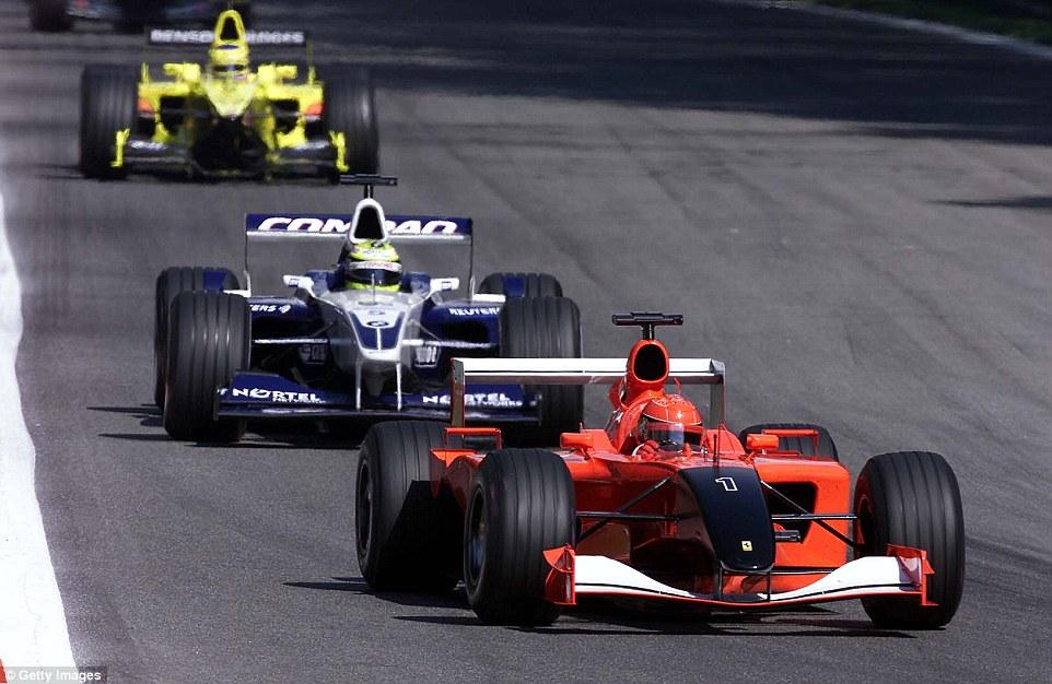 Los hermanos Schumacher, Michael en Ferrari, y Ralf como compañero de Montoya en Williams. Imagen: Daily Mail.