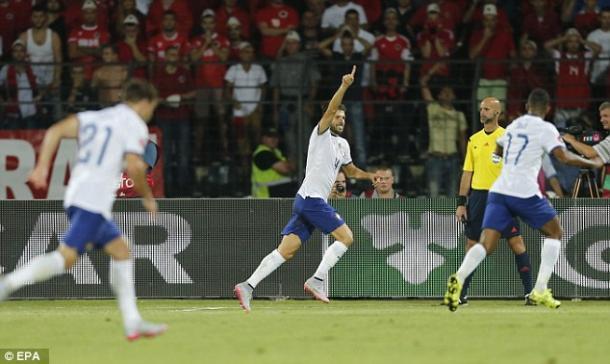 A Albânia surpreendeu ao vencer a Selecção Portuguesa (Foto: DailyMail uk )