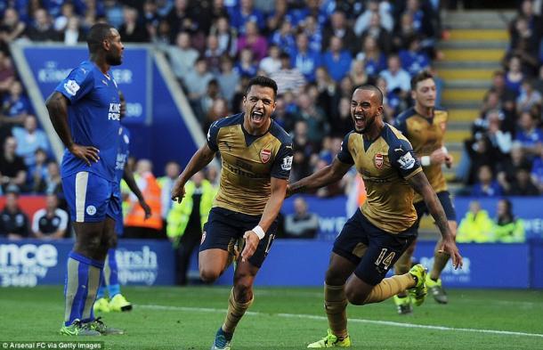 Alexis humilló al Leicester en el King Power | Foto: GETTY