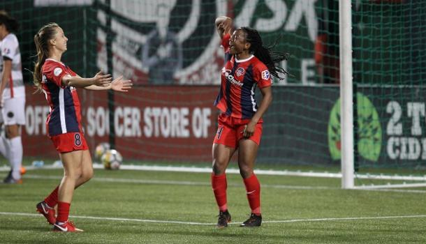 Ordega has a habit of scoring against the Thorns | Photo: Washington Spirit
