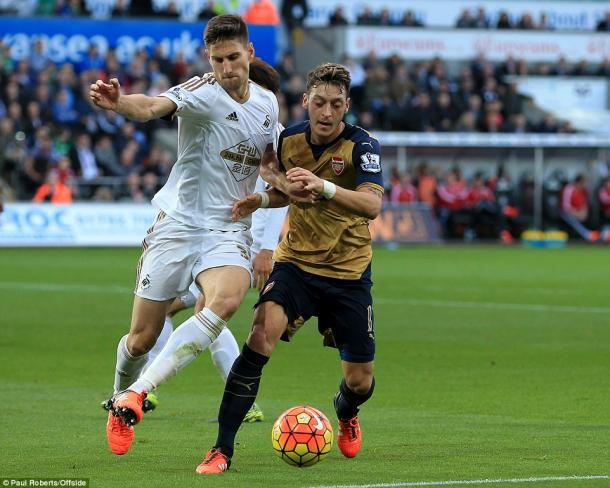 Arsenal were 3-0 victors in the reverse at the Liberty in October.   Photo: Paul Roberts