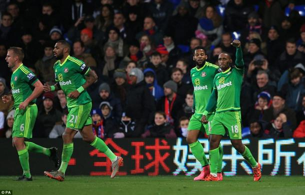 Sunderland will be looking to do the double over Palace on Tuesday, with Jermain Defoe's strike giving them a 1-0 win at Selhurst Park in the reverse at the back end of last year. | Photo: PA