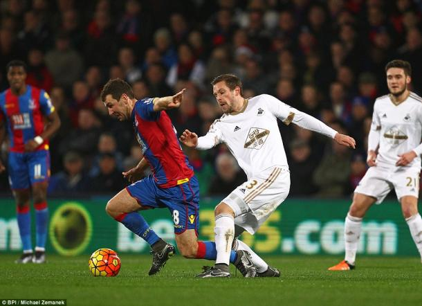 It was a real battle on Monday at Selhurst Park as Swansea secured another point.