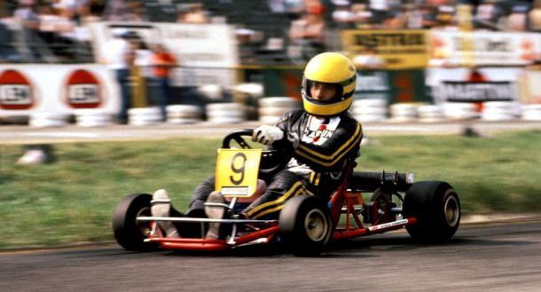 Senna en sus inicios en el Karing