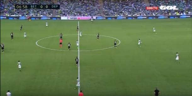 Real Betis 0-0 Deportivo Coruña   FOTO: Análisis Táctico del Betis