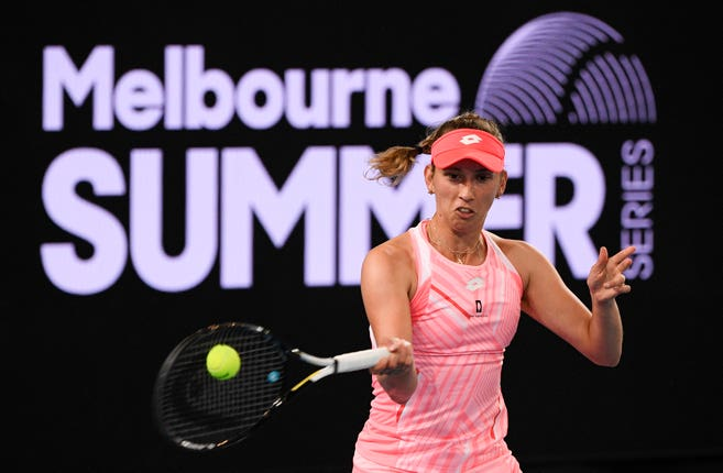 Mertens has won seven straight matches heading into her third round match against Bencic/Photo: Andy Brownbill/Associated Press