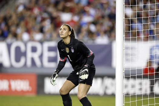 Hope Solo made three saves to keep the French at zero. Photo provided by Brian Bianco-Getty Images.
