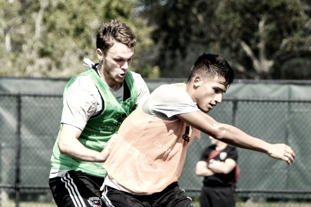 Yamil Asad in training with D.C. United. | Photo: D.C. United