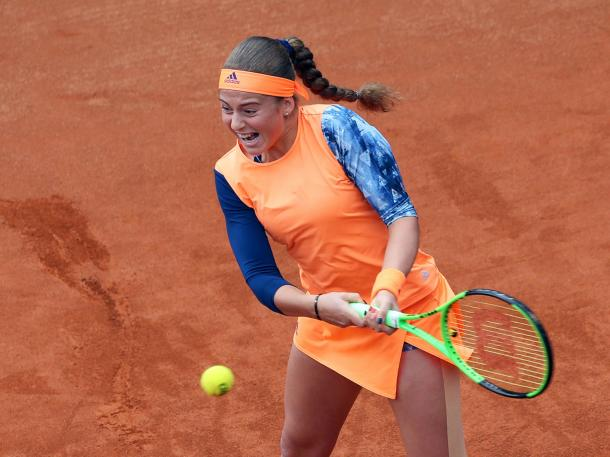 Jelena Ostapenko in action | Photo: J&T Banka Prague Open