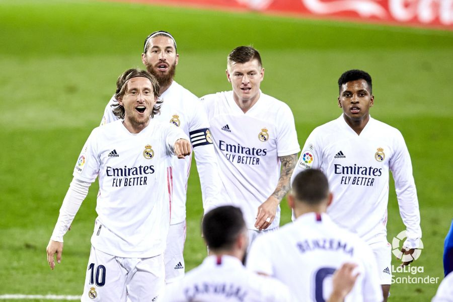 Modric celebra, Eibar sufre. Foto: La Liga.