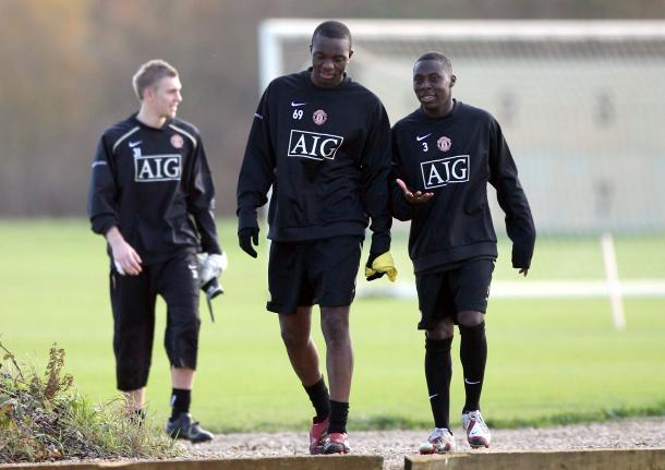 Adu (No. 3) durante su Training Camp en Manchester (SPORTbiblie.com)