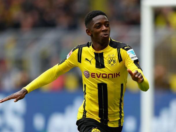 Dembélé è l'autore dell'1-0 in favore del Dortmund. Foto: Getty Images
