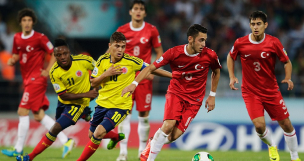 Juan Fernando Quintero anotó el gol de la victoria frente a Turquía I Foto: FIFA