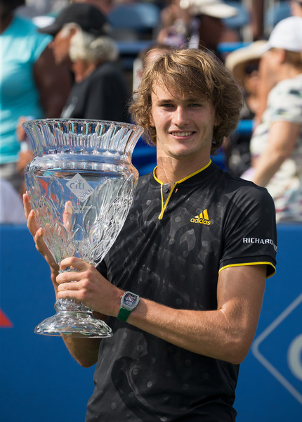Alexander Zverev was dominant in the early stages of the summer in 2017, which included his title run in Washington. Photo: Tasos Katopodis/Getty Images