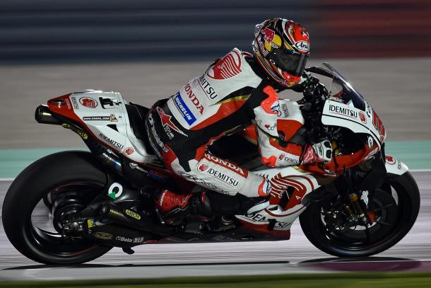Nakagami durante el test en Qatar. Imagen: MotoGP