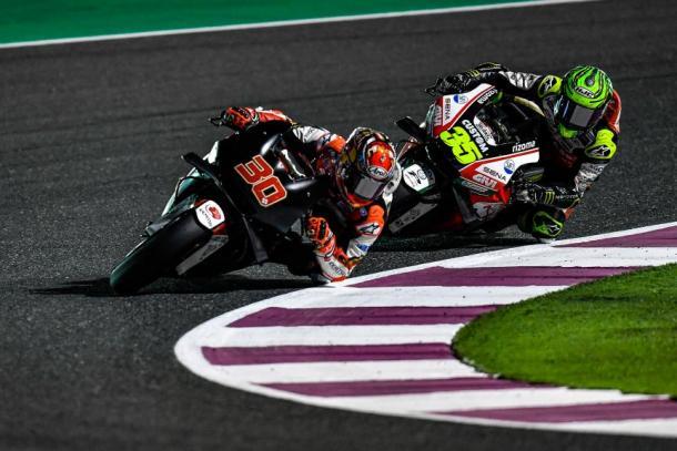 Ambos pilotos durante el test en Qatar. Fuente: motogp.com