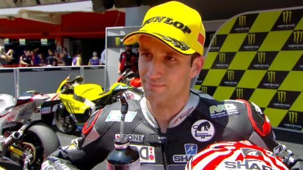 Johann Zarco emotional in interview after dedicating his race win to late Luis Salom - www.motogp.com