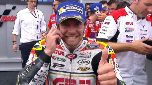 Crutchlow keen to share news of his success with wife Lucy who missed only the second race in nine years as she was heavily pregnant - www.motogp.com