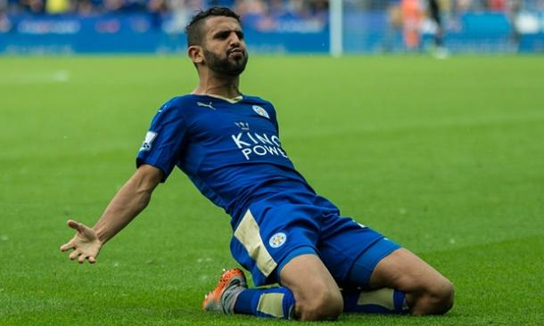 Riyad Mahrez has been on fire for Leicester this season. (Photo: Guardian)