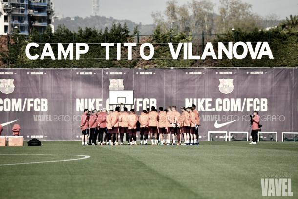 Último entrenamiento del conjunto azulgrana antes de enfrentarse a la Associazione Sportiva Roma | VAVEL