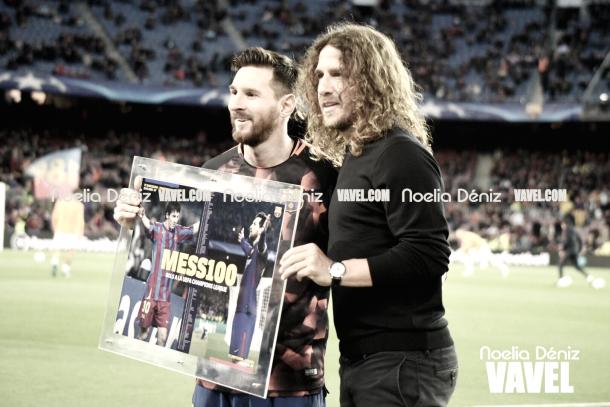 Carles Puyol en el homenaje a Leo Messi | Foto de Noelia Déniz, VAVEL