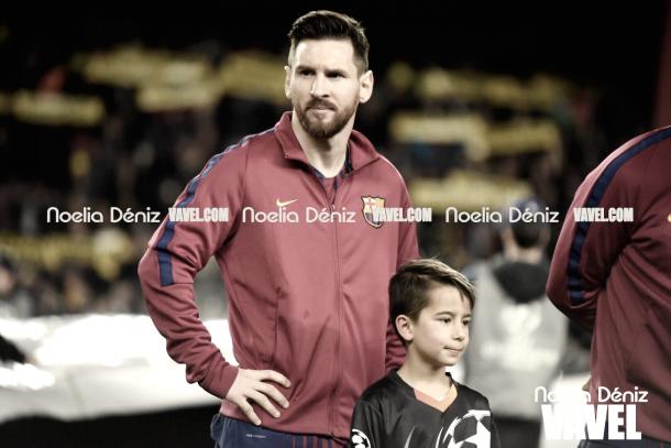 Leo Messi en el Barça-Roma | Foto de Noelia Déniz, VAVEL