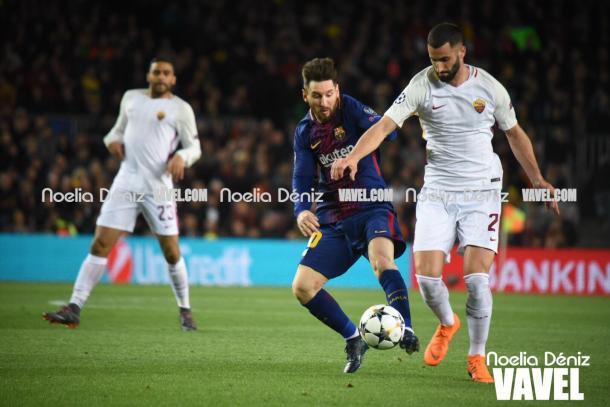 Messi encara a portería | Foto: Noelia Déniz, VAVEL