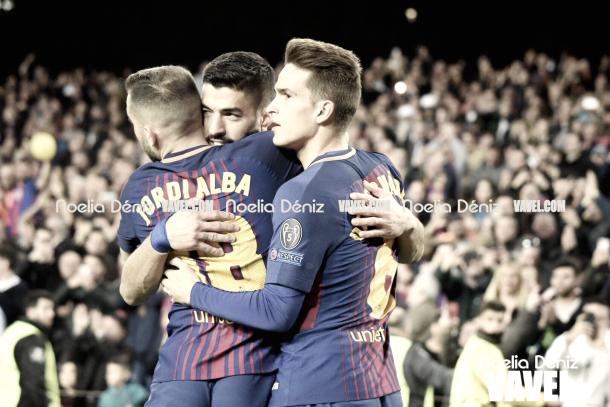Celebración del cuarto gol | Foto de Noelia Déniz, VAVEL
