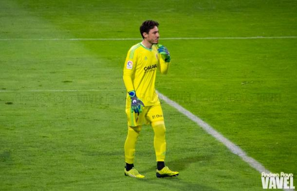 Cristian Álvarez, portero del Real Zaragoza | Foto: Andrea Royo