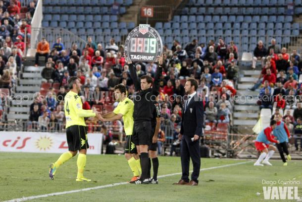 Momento del cambio de Piovaccari por Donoso | Foto: