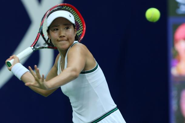 Nao Hibino in action during the final | Photo: Xu Nan Ping / Jiangxi Women's Open