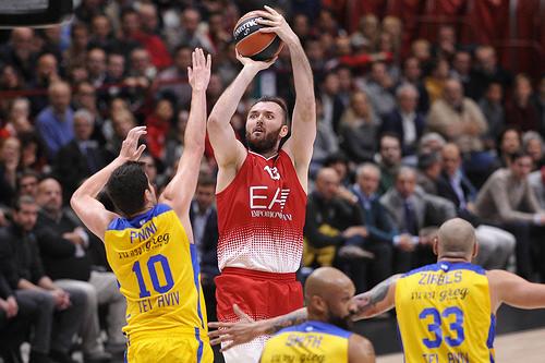 Milan Macvan nel Debutto in Eurolega contro il Maccabi - google.com