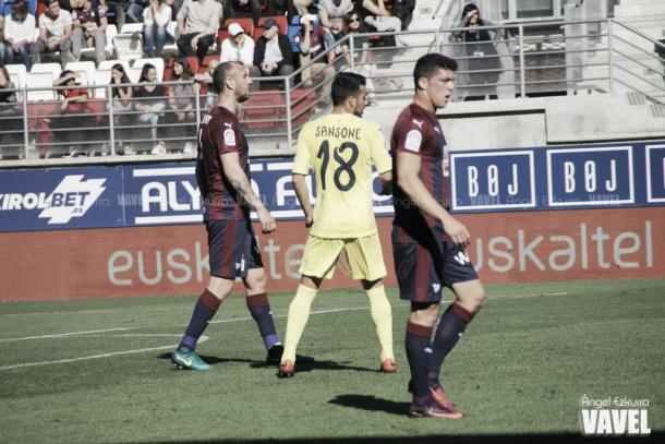 Sansone, en el duelo entre Eibar y Villarreal en Ipurúa | Foto: VAVEL