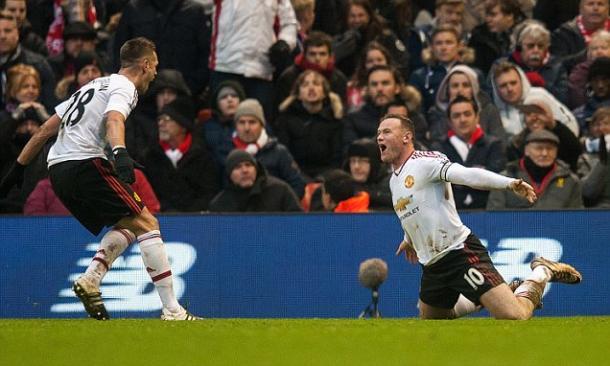 Rooney celebrates his Anfield winner | Photo: dailymail.co.uk