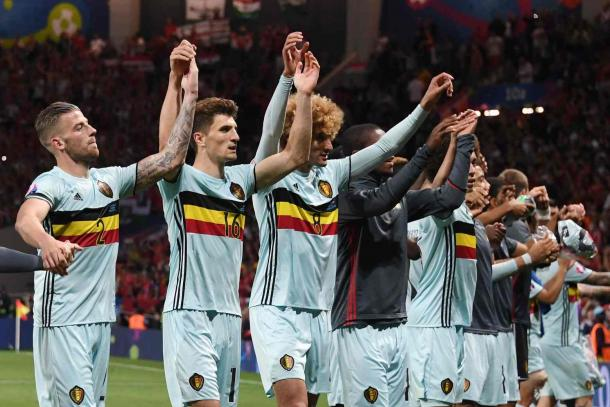 Belgium will play Wales in the quarter-finals (Photo: Pascal Guyot/AFP/Getty Images)
