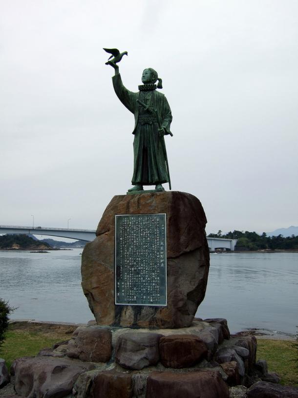 Estatua de Amakusa Shiro, líder de la Rebelión de Shimabara (Prefectura de Kumamoto)