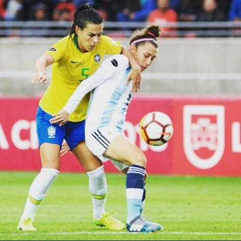 Debut de la volante central en la Copa América de Chile 2018 | Fuente; Instagram personal de Camara